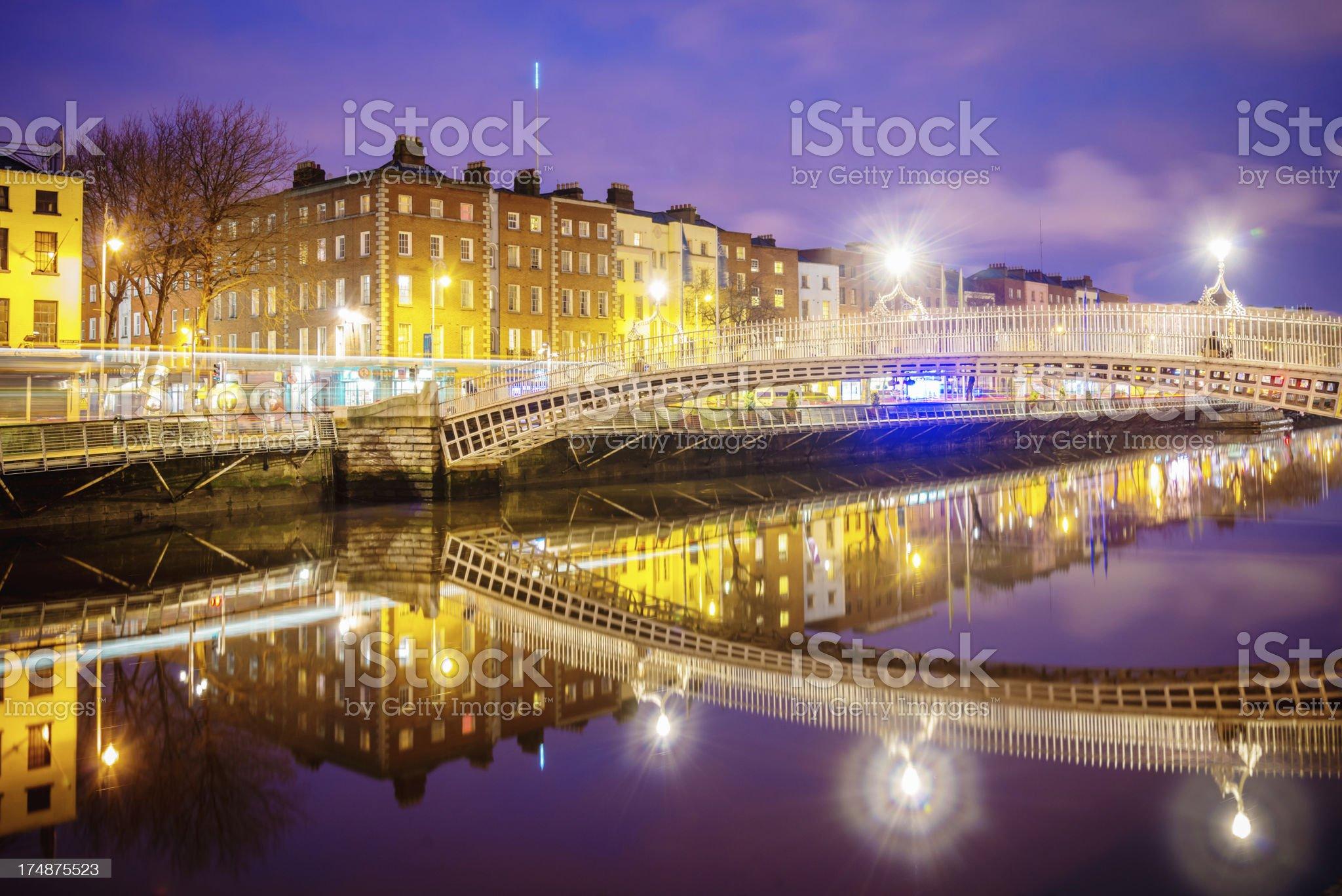 Dublin Ha'penny Bridge royalty-free stock photo