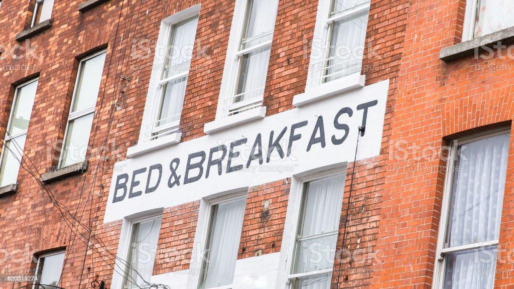 Dublin, Ireland, Bed and Breakfast stock photo