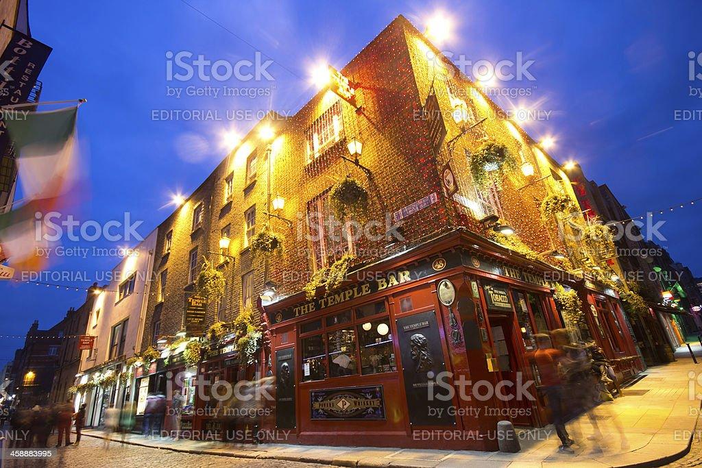 Dublin Ireland Temple Bar District royalty-free stock photo