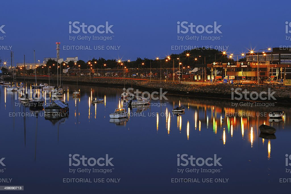 Dublin Port seen from the East-Link Toll Bridge royalty-free stock photo