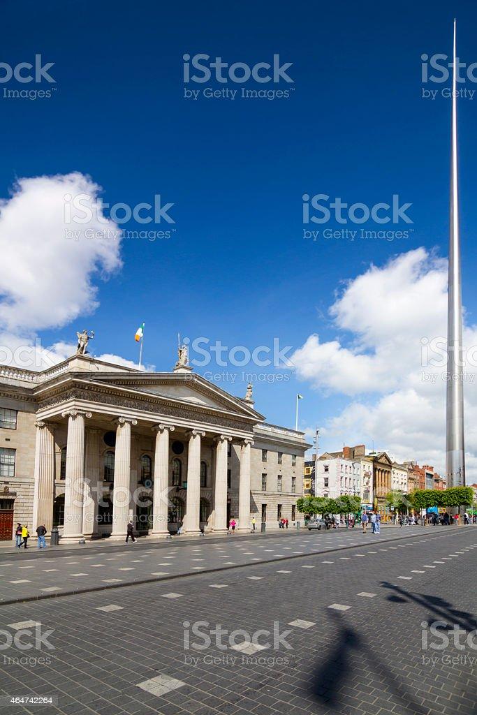 Dublin Post and Dublin Spire stock photo