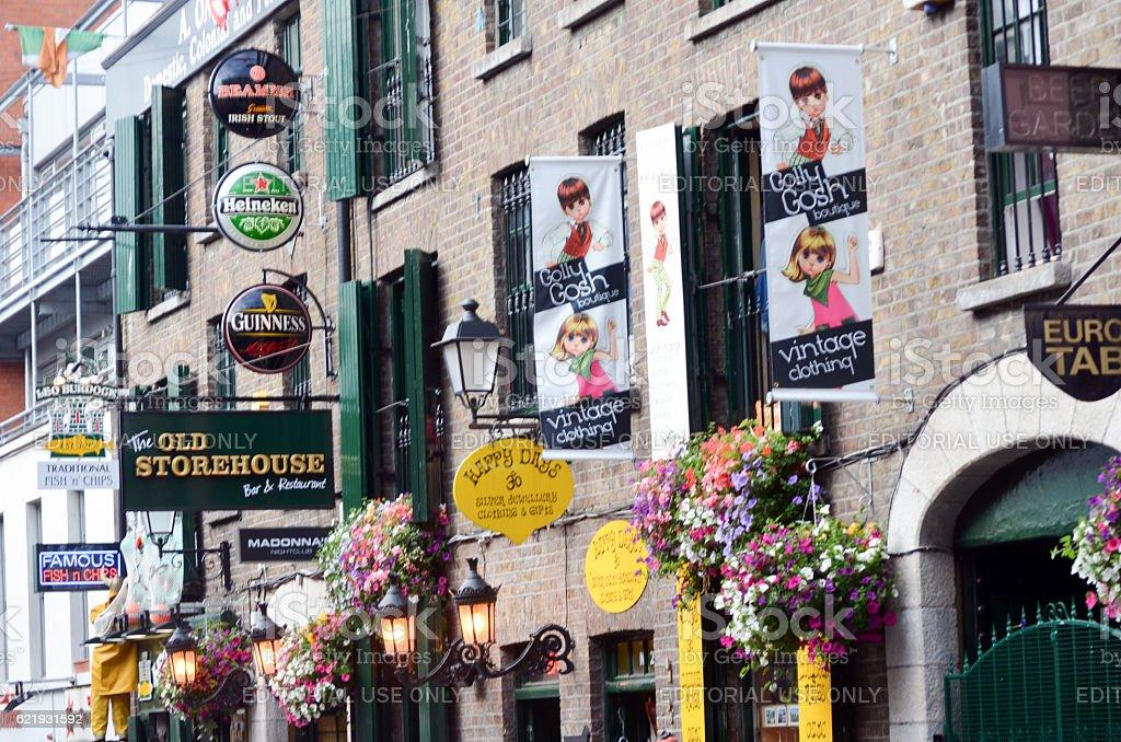 Dublin pubs stock photo