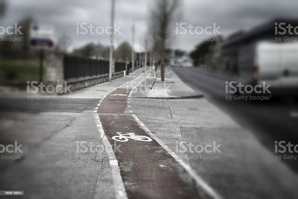 Dublin Street with Bike Path stock photo