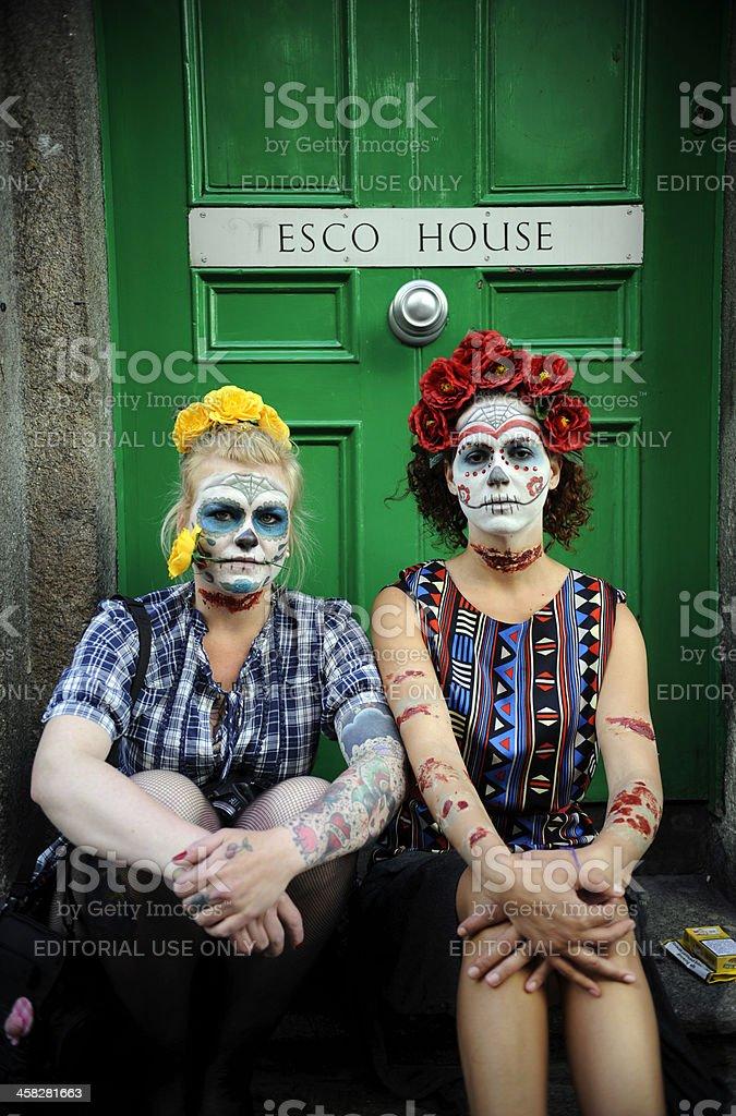 Dublin Zombie Walk royalty-free stock photo