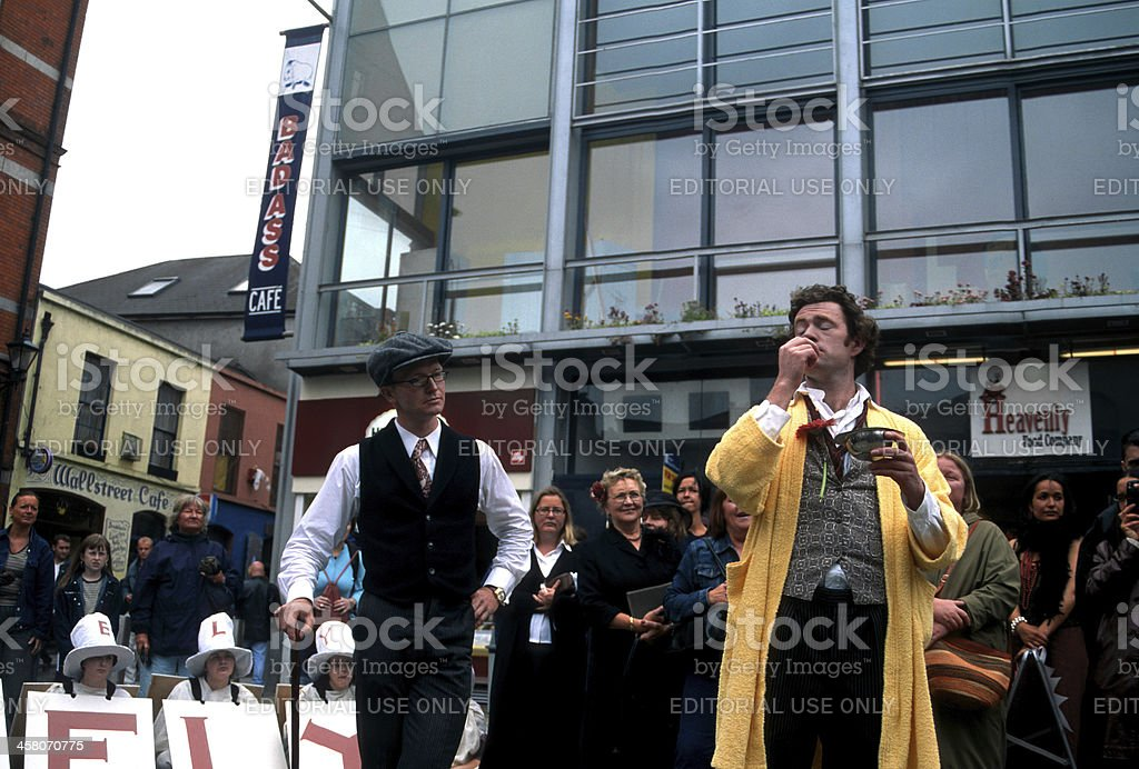 Dubliners celebrating the Bloomsday stock photo