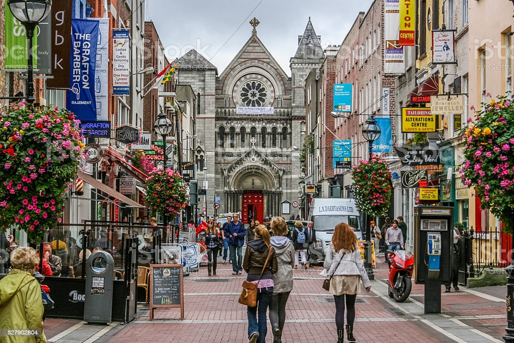 Dublin's Grafton Street stock photo