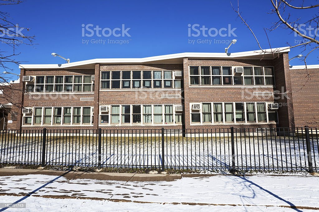 Dubois Elementary School in Riverdale, Chicago stock photo