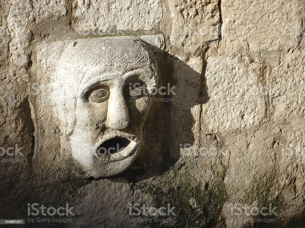 Dubronik Gargoyle royalty-free stock photo