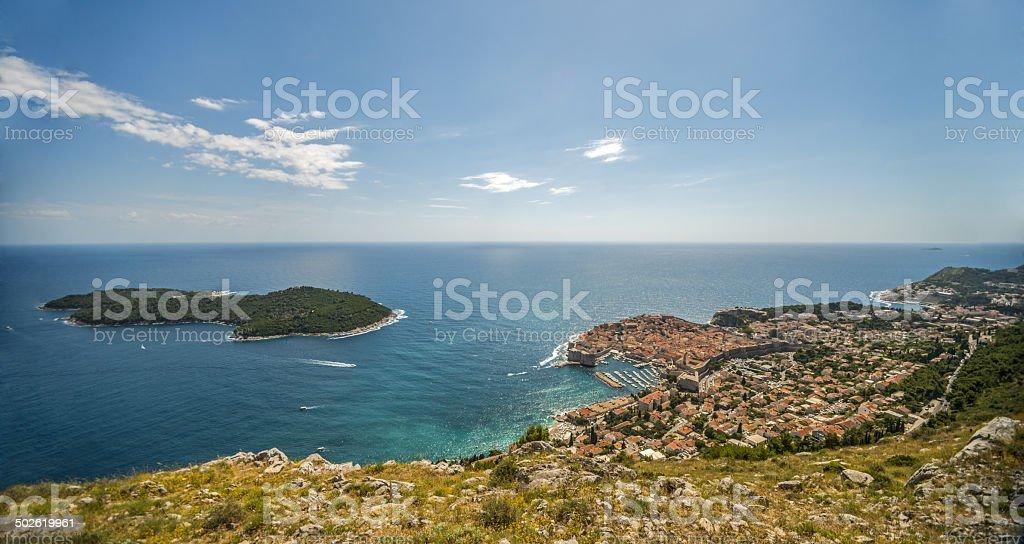 Dubrovnik and Lokrum island royalty-free stock photo