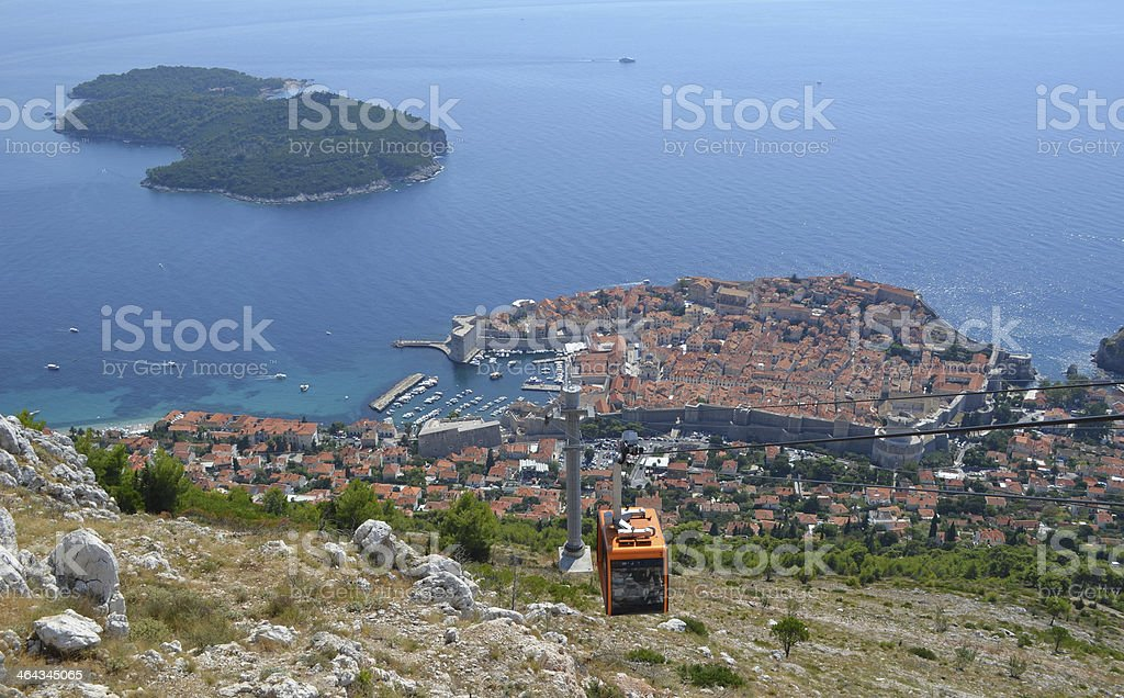 Dubrovnik Cable Car royalty-free stock photo