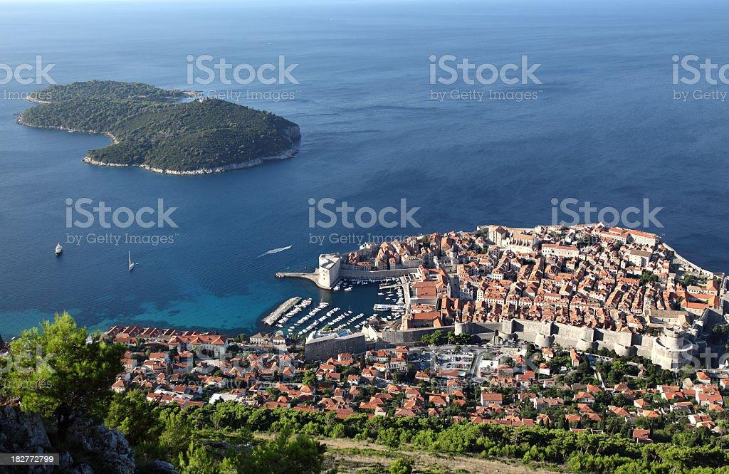 Dubrovnik city panorama royalty-free stock photo