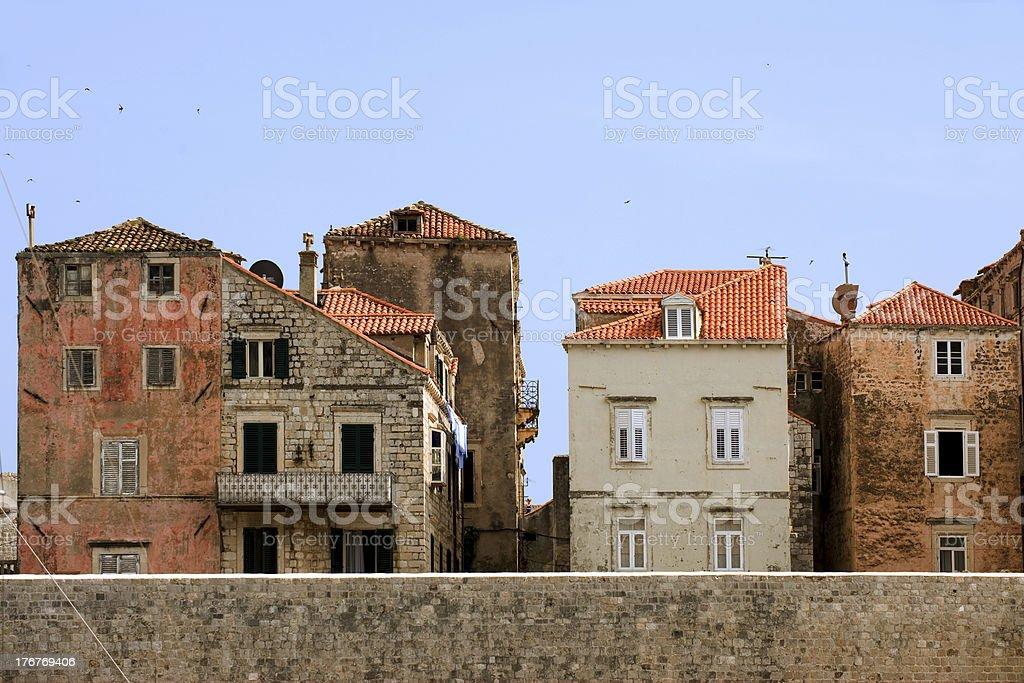 Dubrovnik cityscape royalty-free stock photo