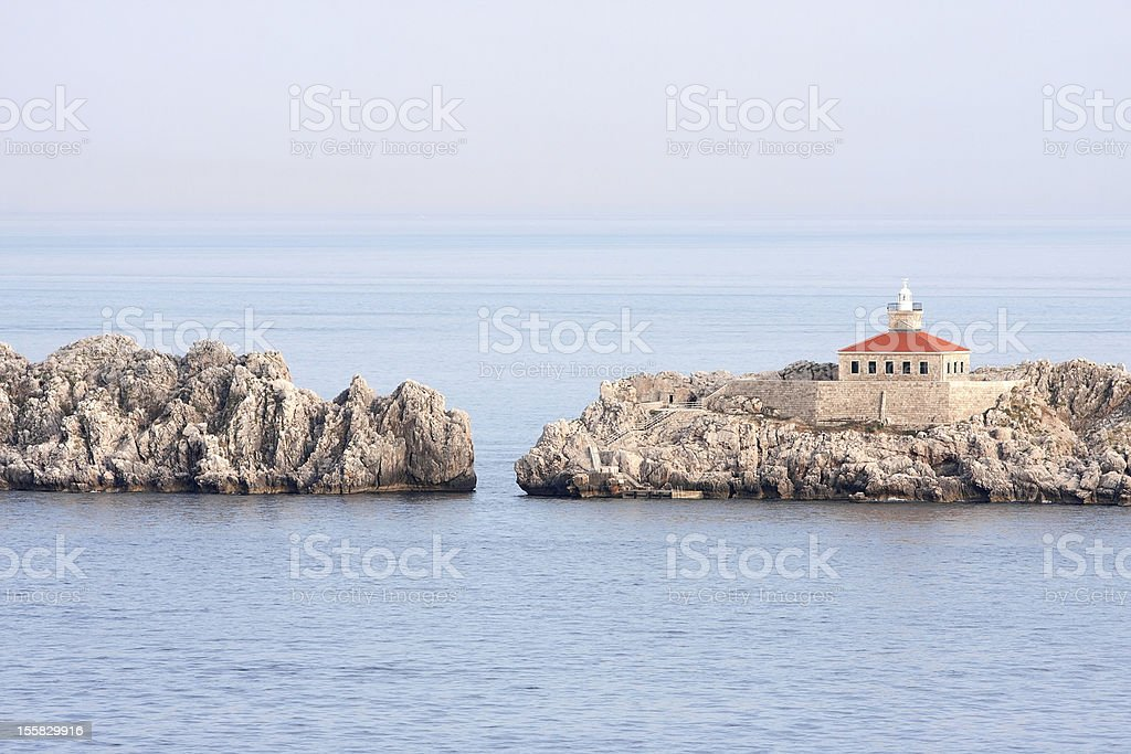 Dubrovnik in Kroatien Lighthouse Lizenzfreies stock-foto