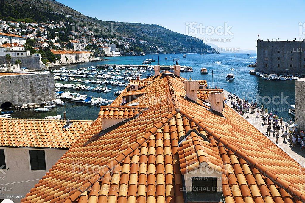 Dubrovnik, Croatia - old port royalty-free stock photo
