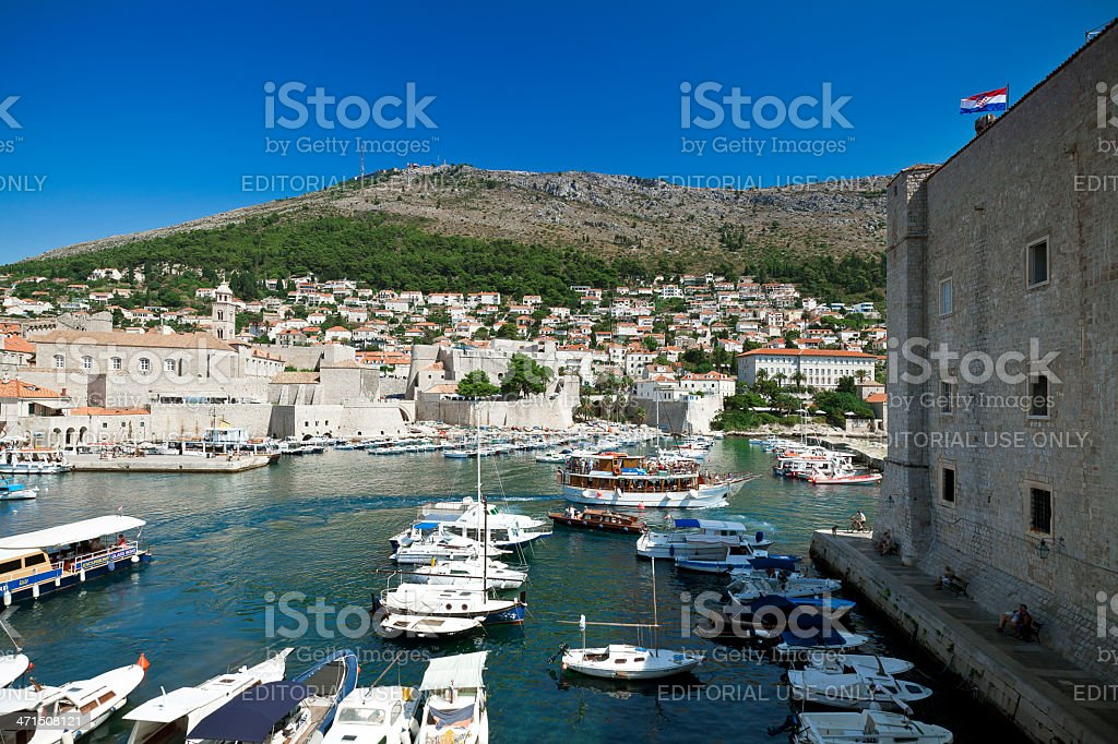 Dubrovnik, Croatia - old port royalty-free stock photo
