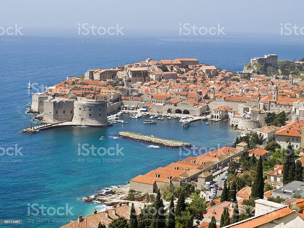 Dubrovnik Fortress - in the south of Croatia royalty-free stock photo