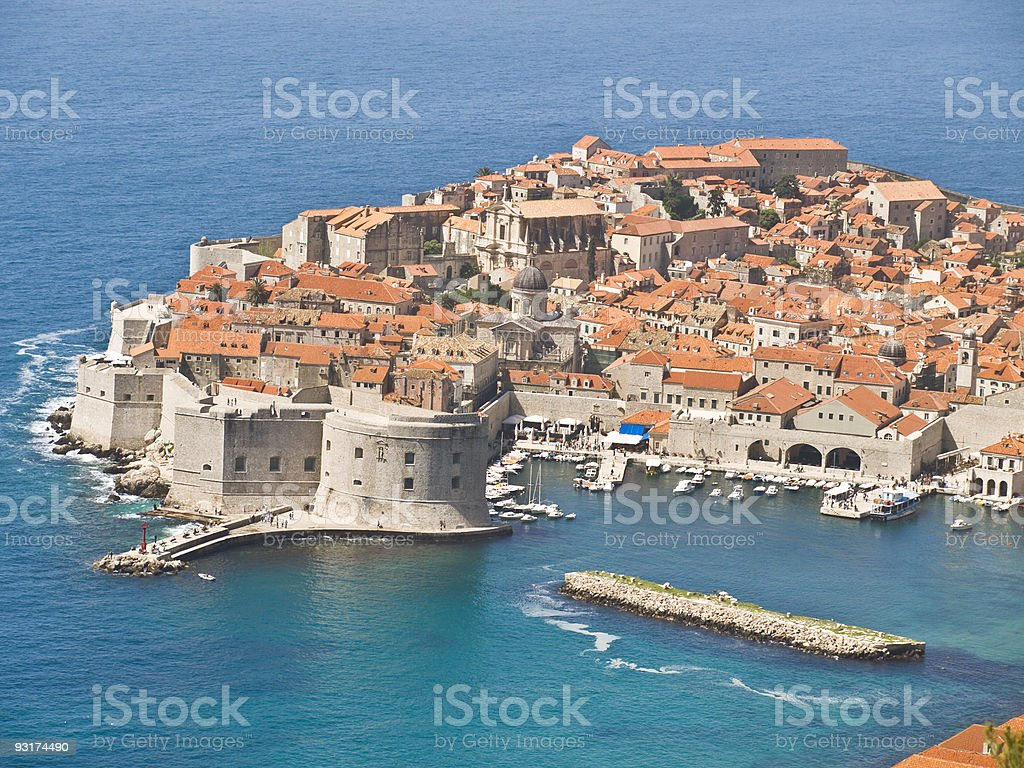 Dubrovnik Fortress in the south of Croatia stock photo