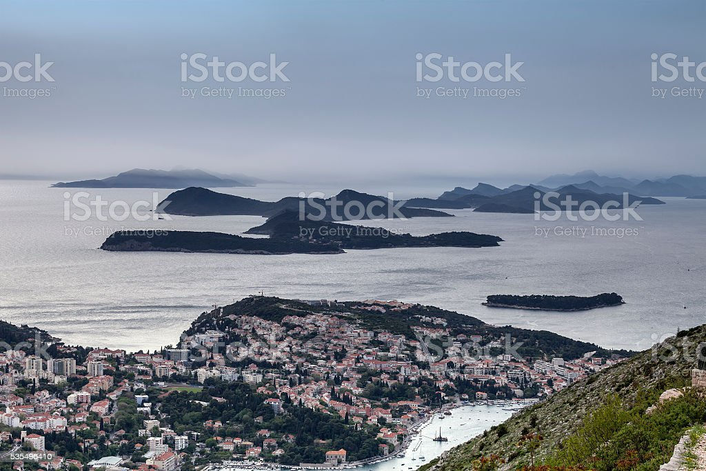 Dubrovnik from above stock photo