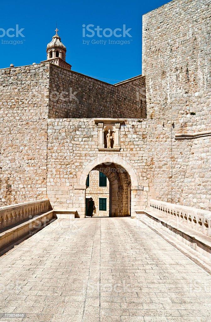 Dubrovnik gate royalty-free stock photo