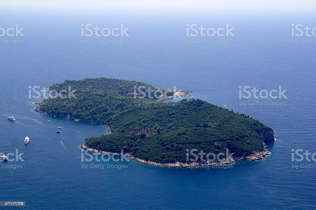 Dubrovnik Lokrum Island stock photo