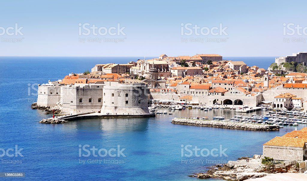 Dubrovnik Old Town & Fortress, East side stock photo