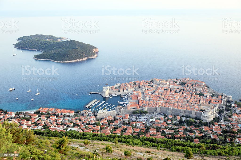 Dubrovnik old town panorama royalty-free stock photo