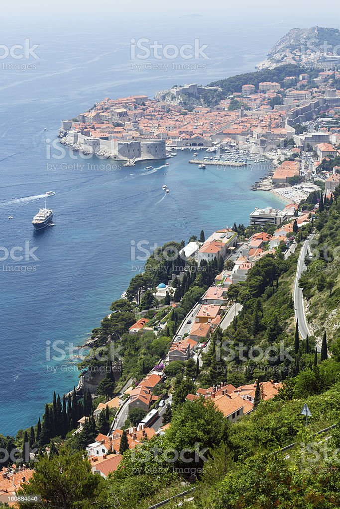 Dubrovnik Old Town view (Croatia) royalty-free stock photo