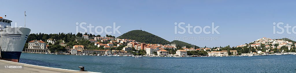 Dubrovnik port royalty-free stock photo