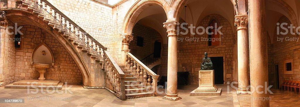 Dubrovnik rector palace stock photo