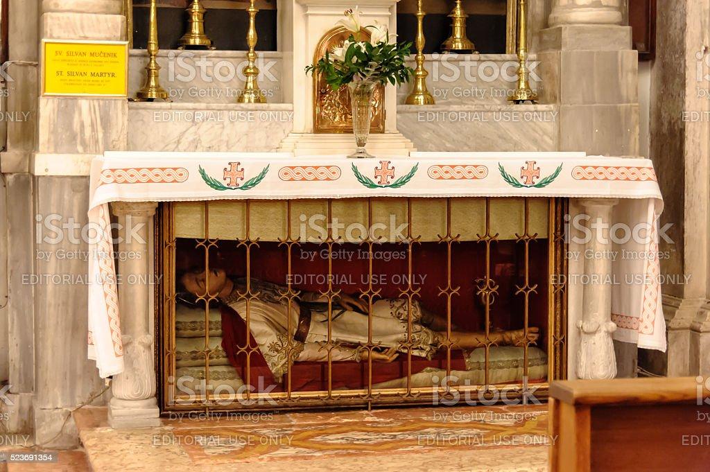 Dubrovnik Relics of St. Silvan stock photo