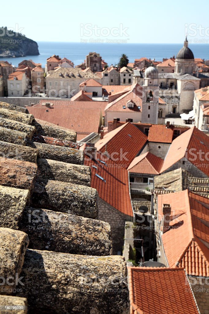 Dubrovnik roofs royalty-free stock photo
