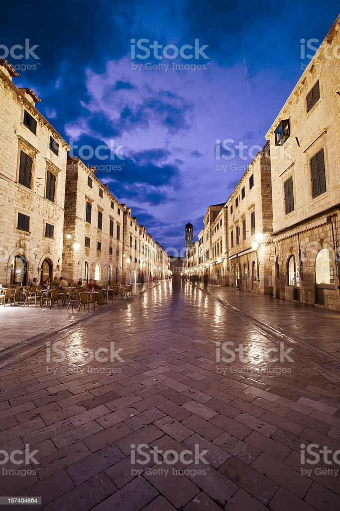 dubrovnik street scenic royalty-free stock photo