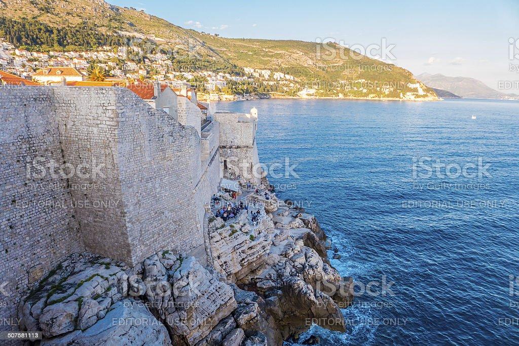Paredes de Dubrovnik foto royalty-free