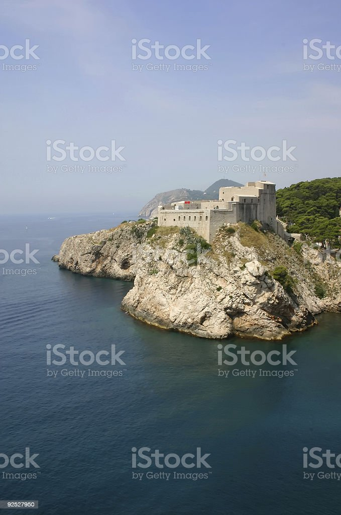 Dubrovnik's fortress royalty-free stock photo