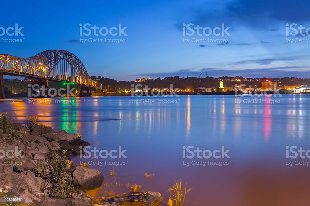 Dubuque Iowa stock photo