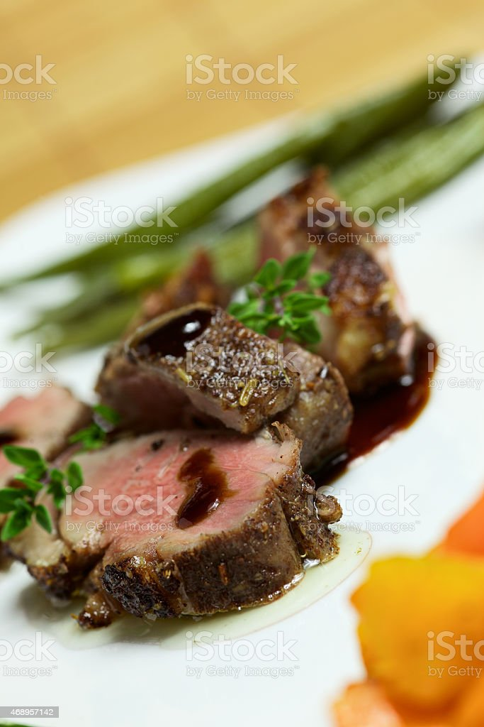 Duck Breast cooked Souse Vide stock photo
