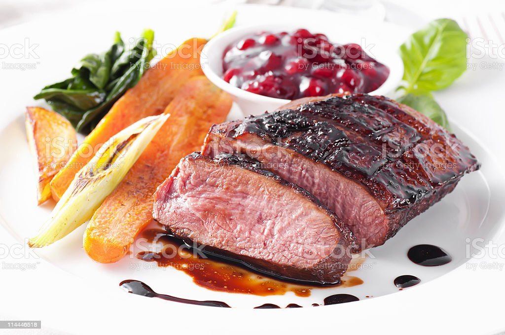 Duck Breast Filet royalty-free stock photo