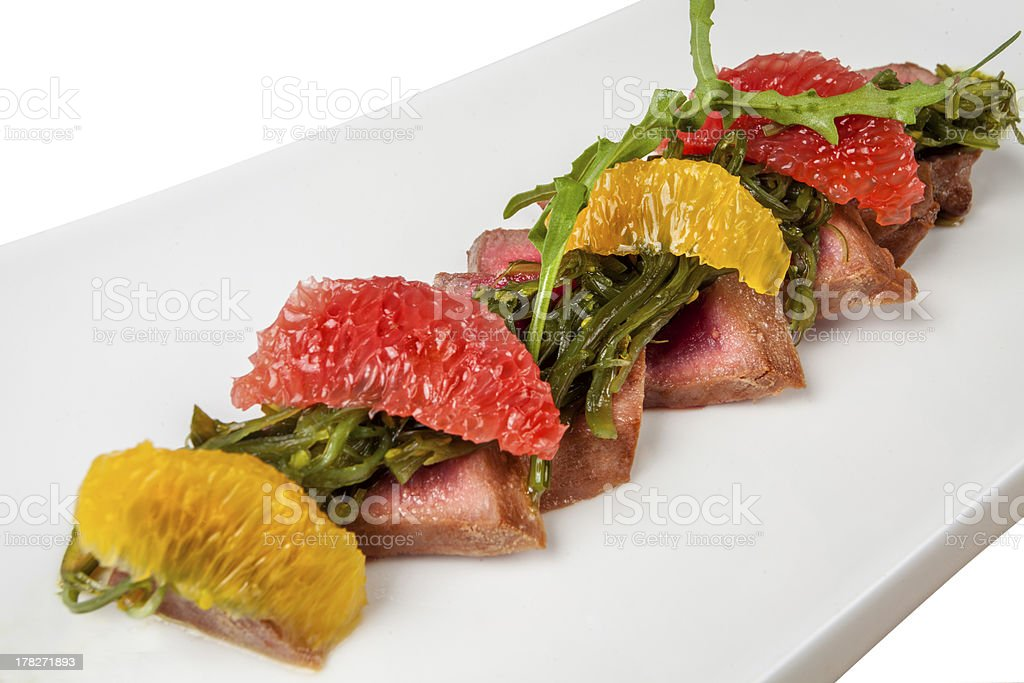 Duck Breast with Orange royalty-free stock photo