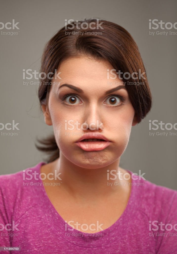 Duck Face stock photo