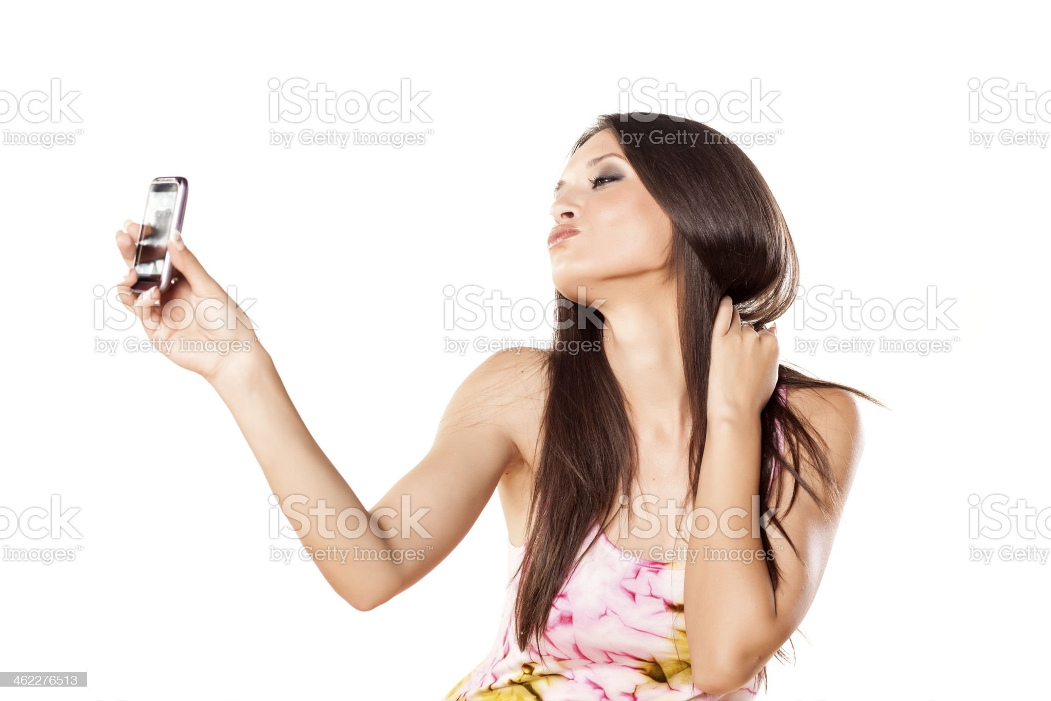 duck face royalty-free stock photo
