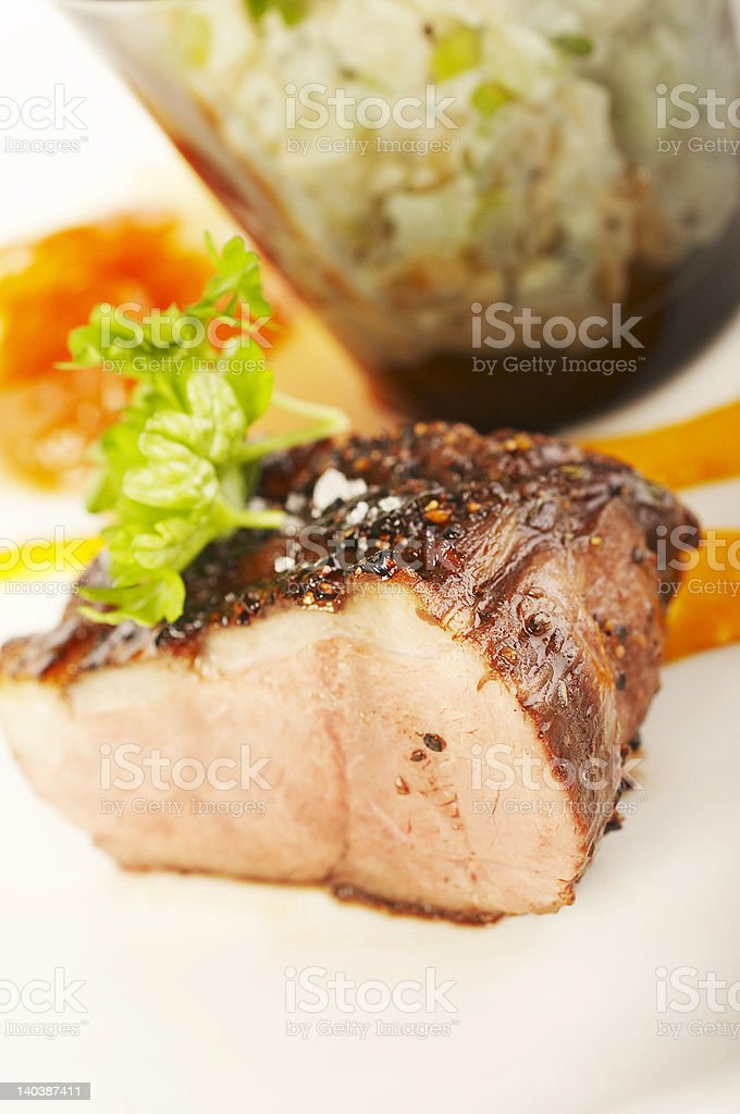 Duck fillet close-up royalty-free stock photo
