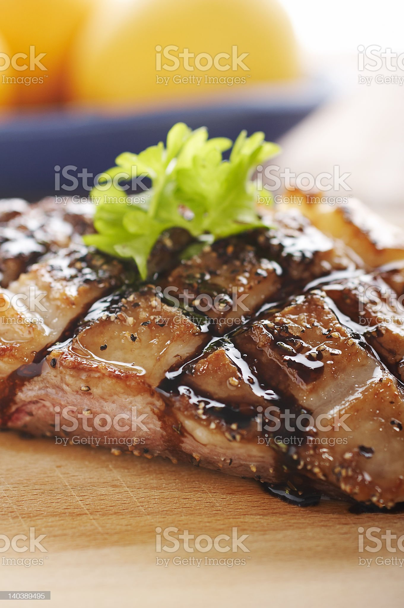 Duck meat on wood royalty-free stock photo