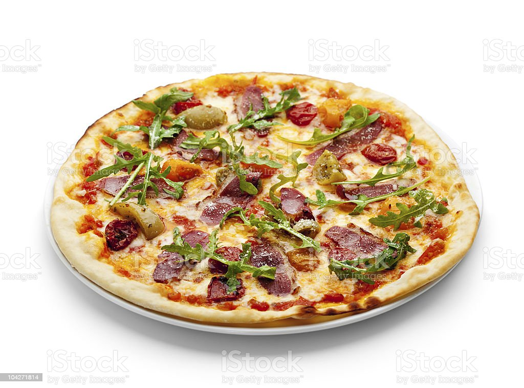 Duck Meat Pizza royalty-free stock photo