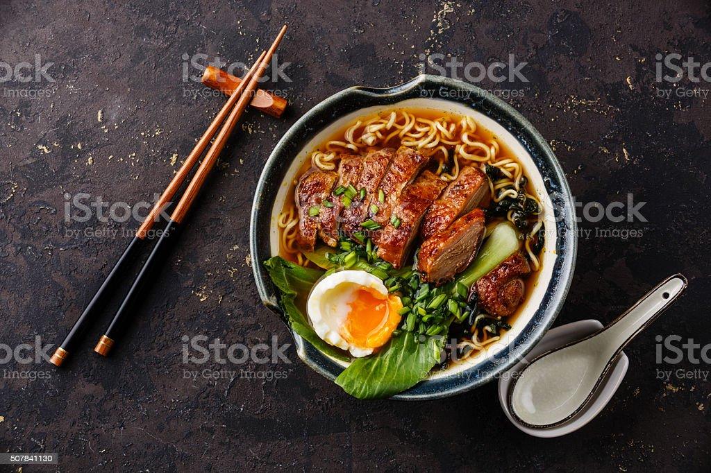 Duck noodles stock photo