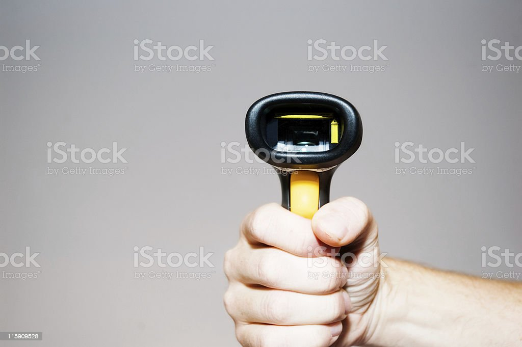 Duck, or be Scanned royalty-free stock photo