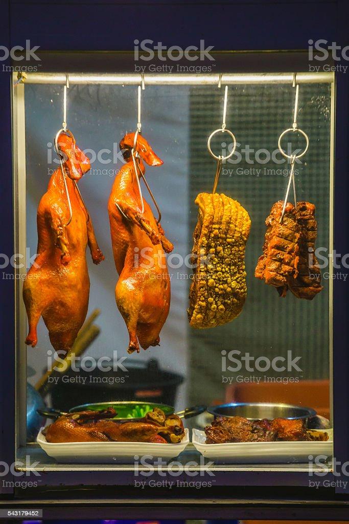 Duck roast is hang stock photo
