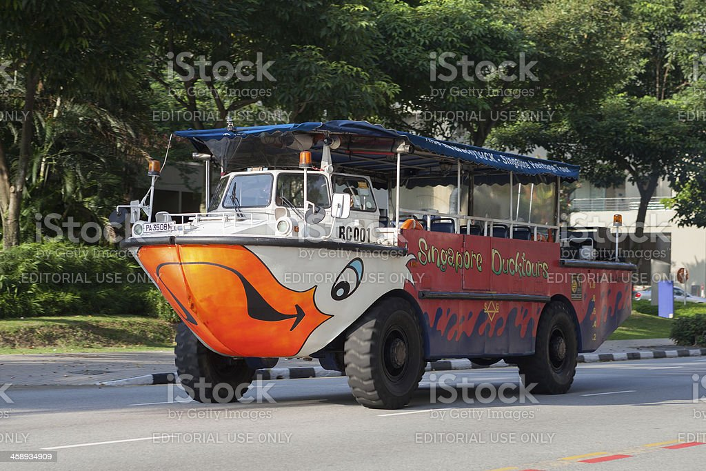 Duck tour amphibious vehicle stock photo