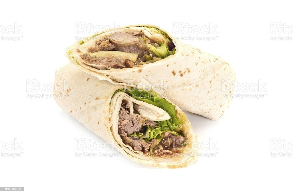 Duck Wrap Sandwich royalty-free stock photo