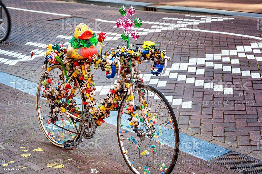 Ducks Bike stock photo