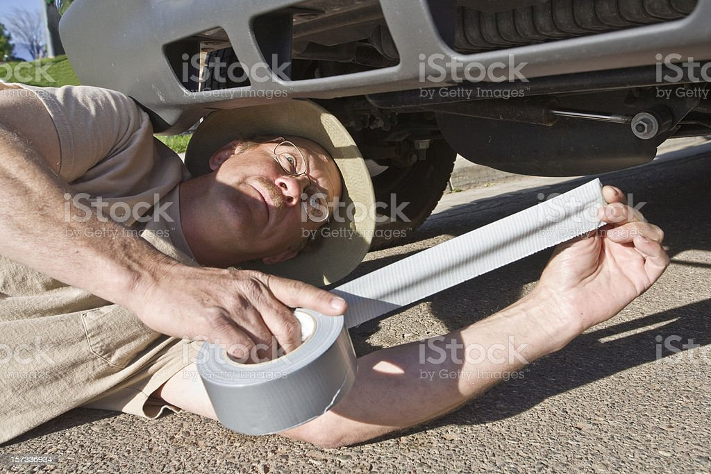 Duct Tape Fix All Solution. stock photo